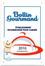 Plaque Bottin Gourmand 2016